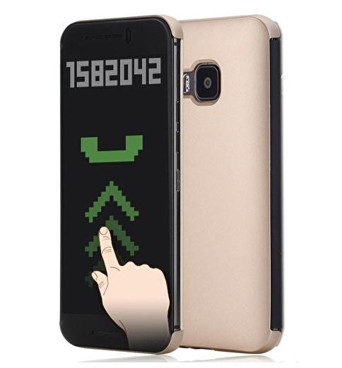 Rock DR.V HTC One M9 invisible Smart UI Transparent Kılıf  Renkli